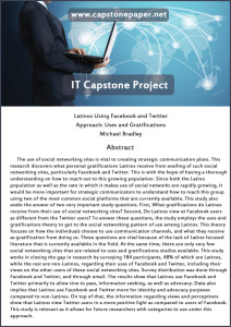 capstone it paper sample