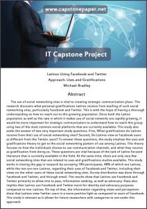 Define capstone essay
