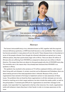 capstone nursing paper sample
