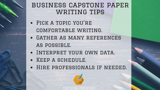 business capstone paper writing tips