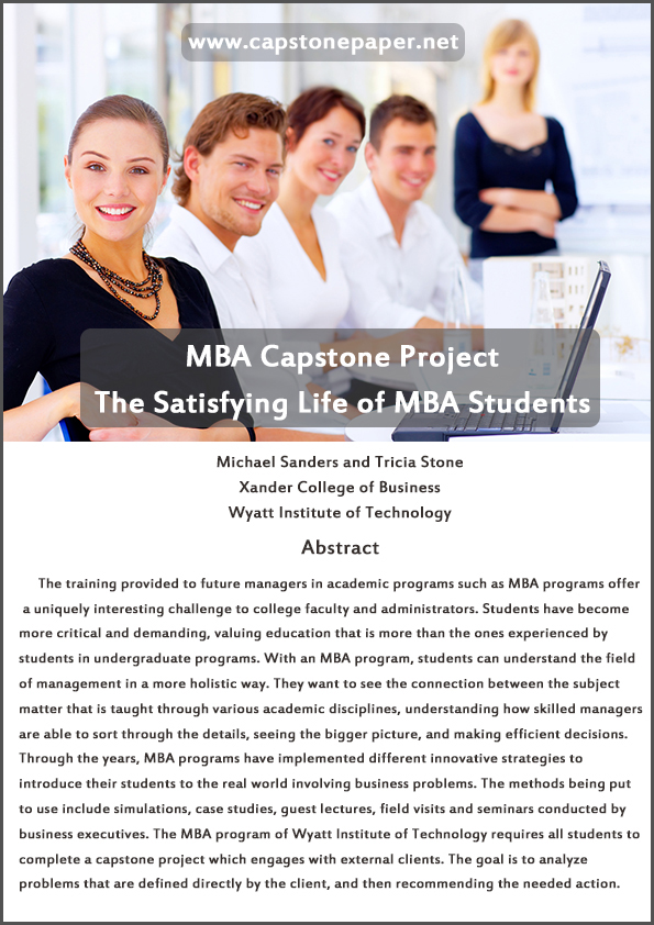 mba capstone essay Capstone project template overview this document serves as a template that can be used by nyack college students to help formulate their capstone project for the mba program.