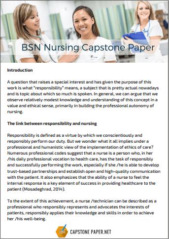 BSN nursing capstone paper