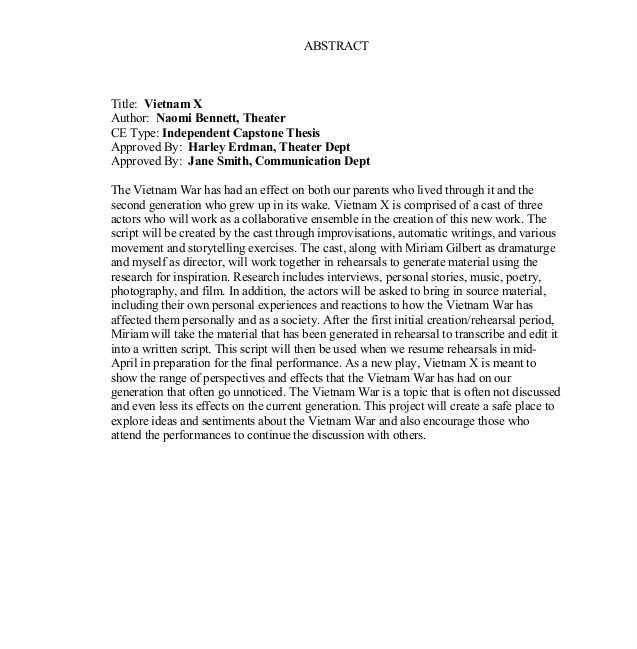 MBA Capstone Paper: From Start to Finish - Capstone Paper