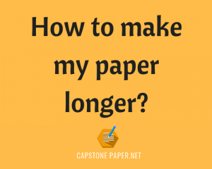 tricks how to make my paper longer