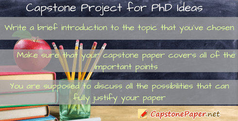 capstone project for PhD ideas