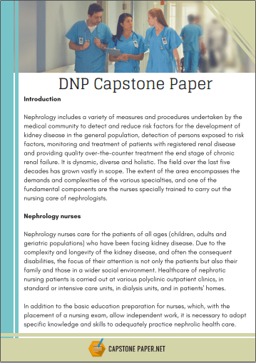 dnp capstone paper sample