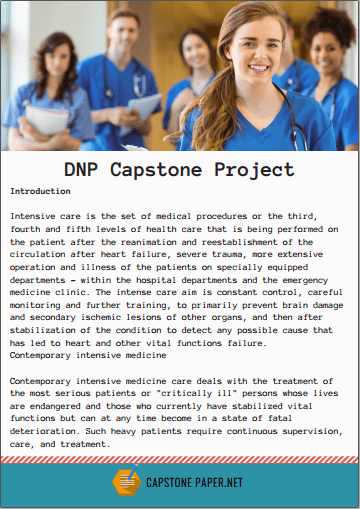 DNP capstone project example