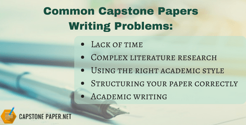 common capstone papers writing problems