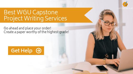 help to write a wgu capstone