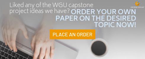 topics for wgu capstone examples