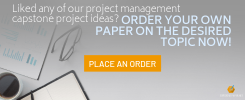 project management capstone project ideas help